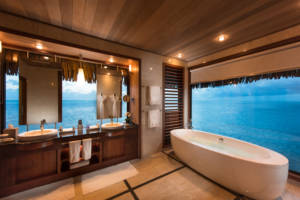 Conrad Bora Bora Nui features 114 guestrooms, including 86 overwater bungalows and 28 tropical garden and beach villas.