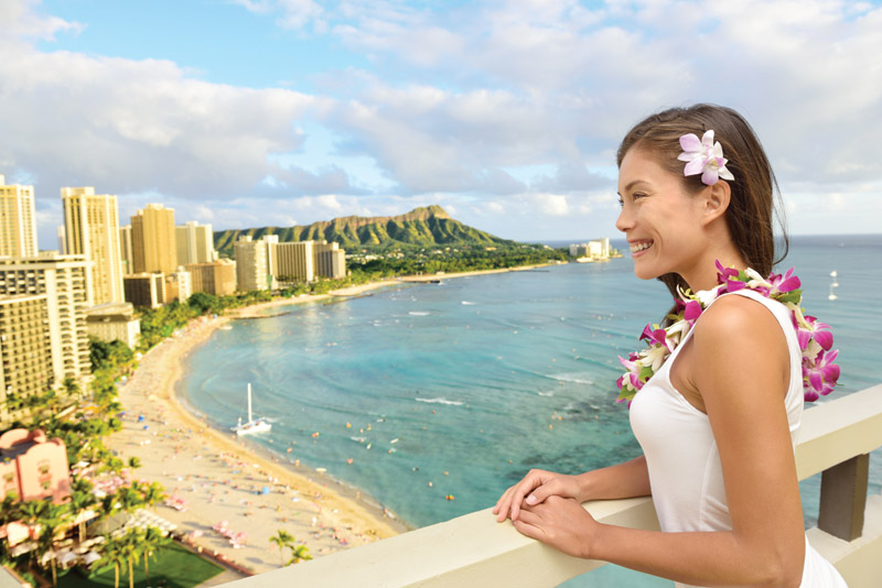 Hawaii, according to the survey, is a top place for a luxury vacation.