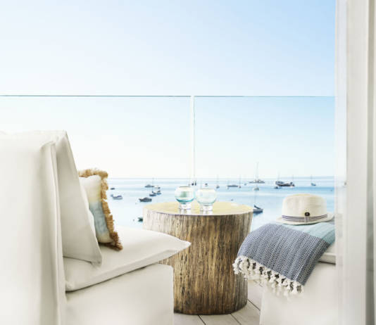 Nobu Hotel Ibiza Bay isSmall Luxury Hotels of the World'sfirst Ibizan outpost.