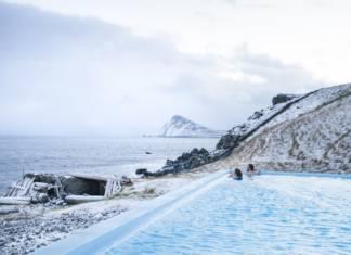 Krossnes pool in Iceland.