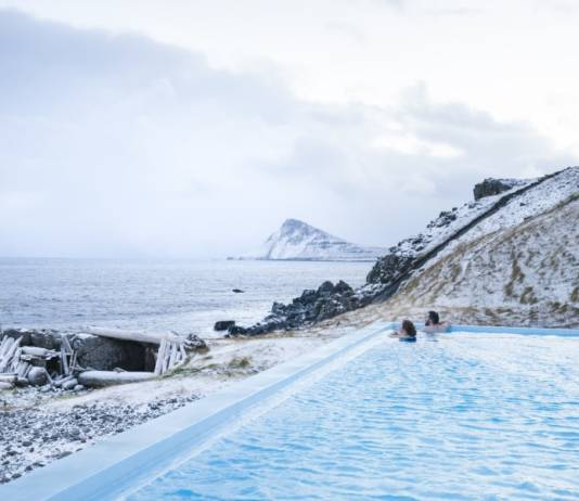 Krossnes pool in Iceland.