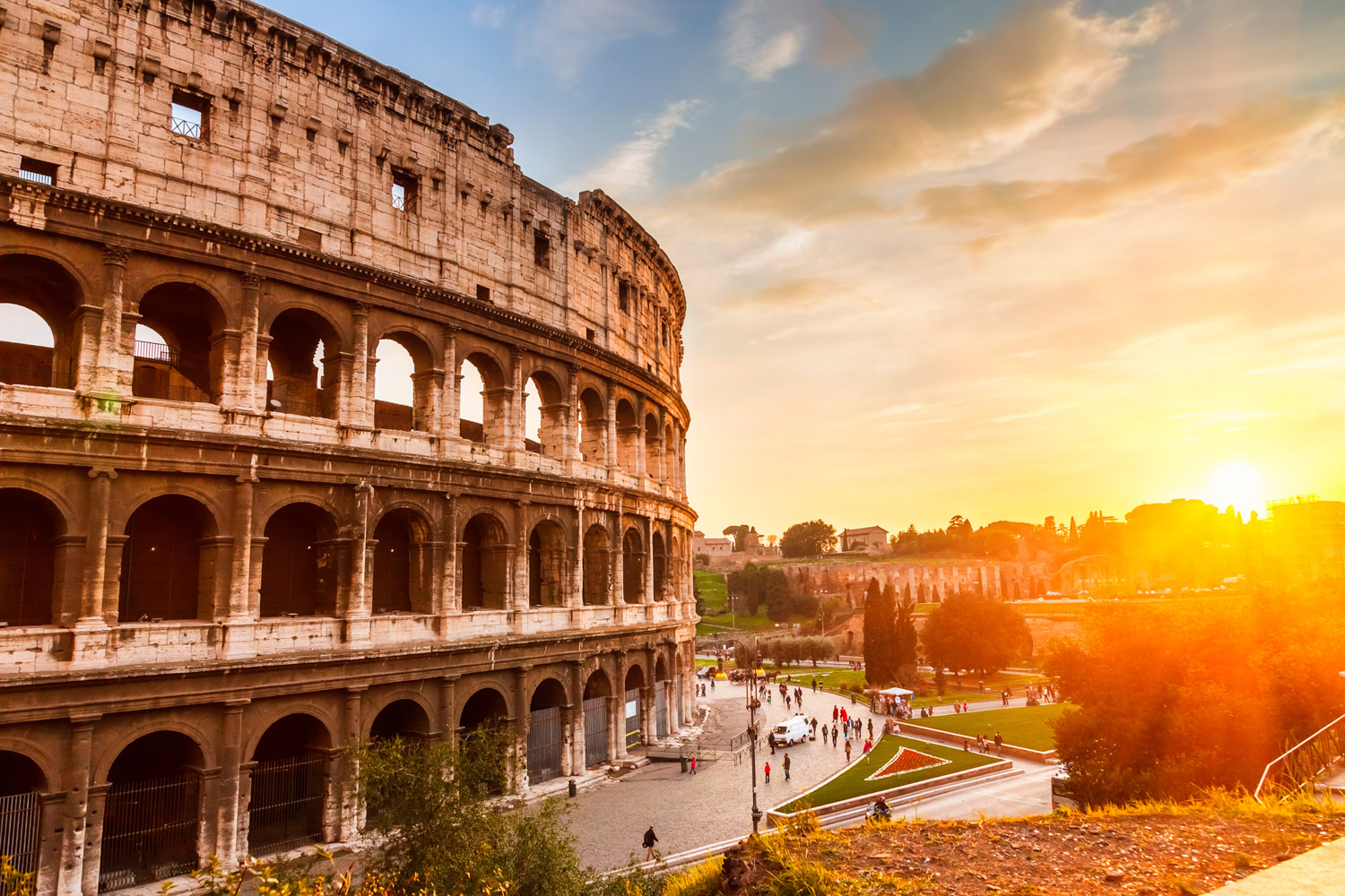 The top European destinations for Delta Vacations romance program are Paris, Venice and Rome (pictured).