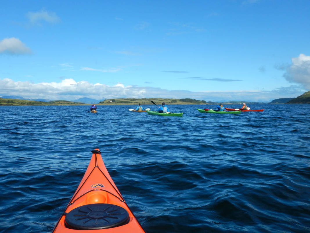 Wilderness Scotland offers a Scottish Sea Kayak Trail South - The Whisky Coast itinerary that combines whisky tastings with a sea kayaking trip.