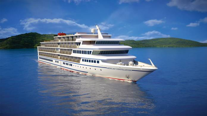 A rendering of American Cruise Lines'American Constellation.