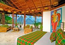 Anse Chastanet resort in Saint Lucia.