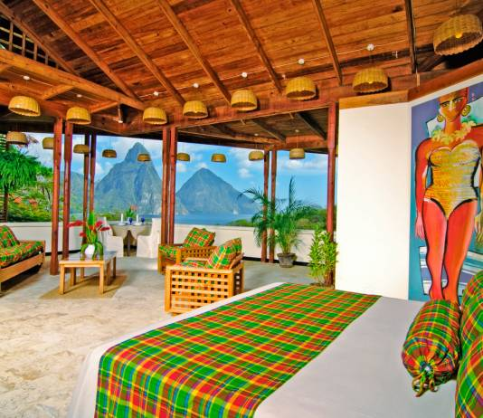 Anse Chastanet resort in Saint Lucia.