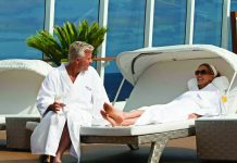 Spa time on board an Oceania cruise.