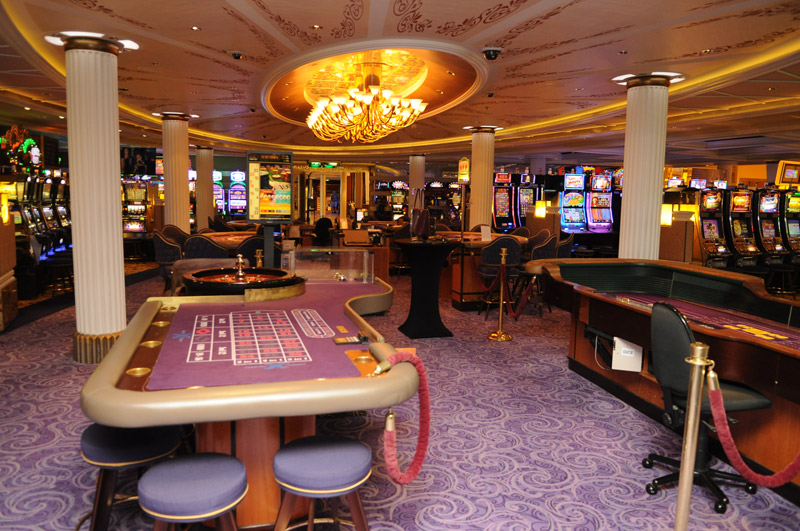 Celebrity Cruises' casino loyalty reward program is back featuring 14 new benefits. (Pictured:A casino on board the Celebrity Equinox)