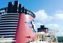 Top deck on the Disney Fantasy.