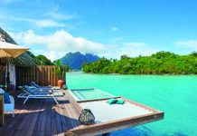 The newly opened Conrad Bora Bora Nui.