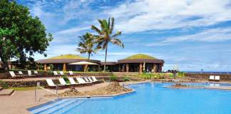 Hangaroa Eco-Hotel + Spa on Easter Island.