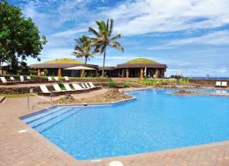 Hangaroa Eco-Hotel + Spa on Easter Island.