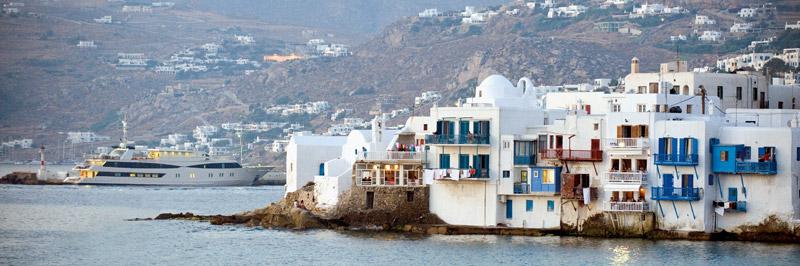 Variety Cruises' Harmony V in Mykonos.