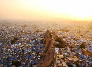 On Butterfield & Robinson's new India Walking, guests visit the Blue City of Jodhpur.