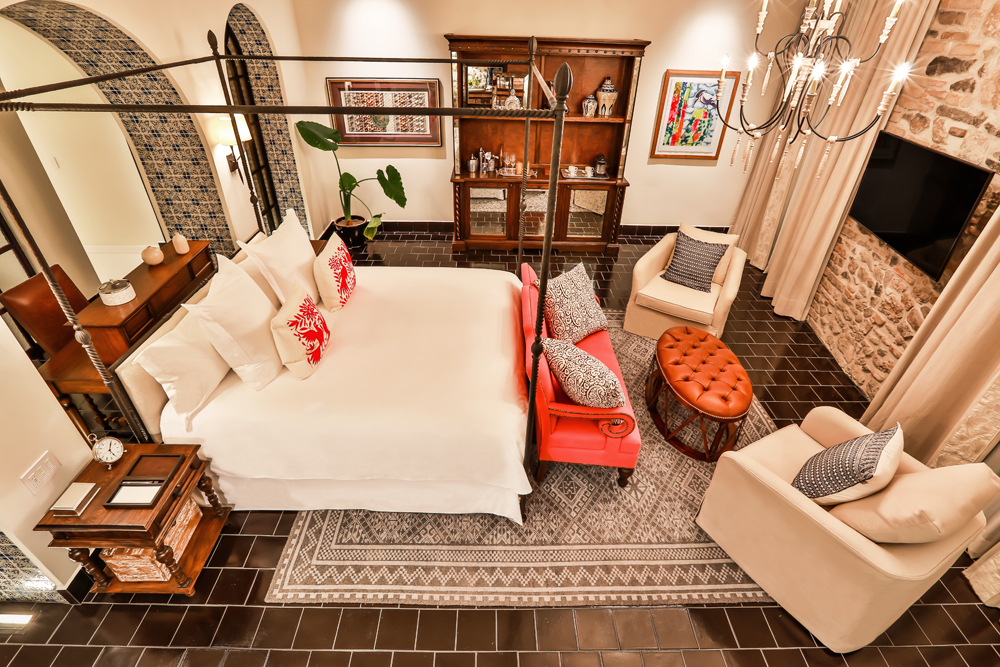 A colonial chic vibe resides over the Rosewood Puebla.
