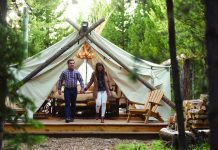 Glamping at Collective Yellowstone in Montana.