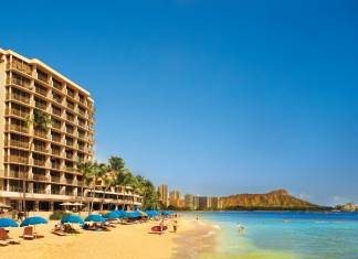 Travel agents can win a 4-night stay for two at Outrigger Reef Waikiki Beach Resort during Apple Vacations' 13th Annual Travel Agent Appreciation Month promotion. (Photo credit: Apple Vacations)