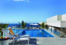 Poolside at the Hilton Rio de Janeiro.