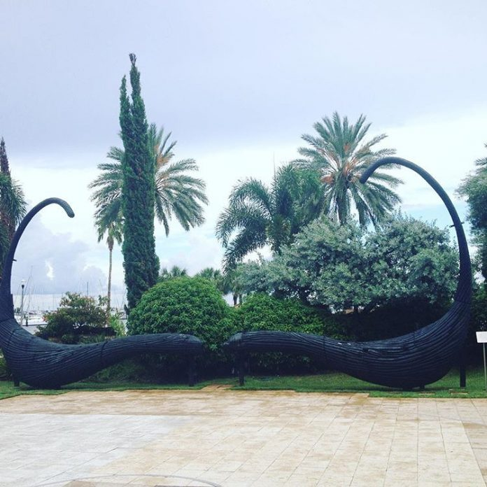 Mustache sculpture at the Salvador Dali Museum in St. Petersburg, Florida.