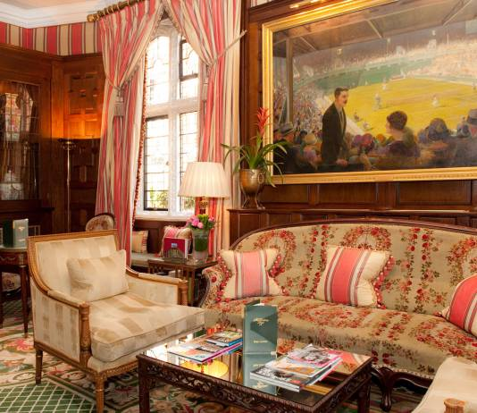 The lounge at the Milestone Hotel where afternoon tea is served.