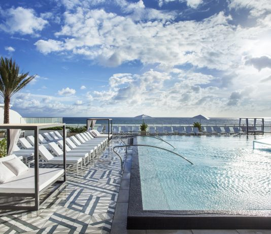 The W Fort Lauderdale's rooftop WET deck pool.