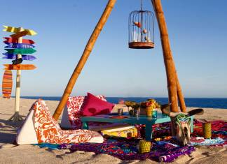 "Las Ventanas al Paraiso, A Rosewood Resort's unique collection of summer experiences includes a four-course ""gypsy dinner"" of authentic Mexican dishes  in a beachfront encampment."