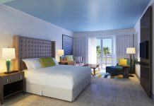 Renovated guestroom at the St. Kitt's Marriott Resort.