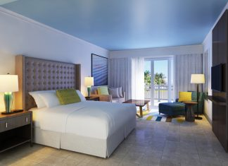 Renovated guestroom at the St. Kitts Marriott Resort.