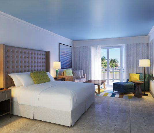 Renovated guestroom at the St. Kitt's Marriott Resort.