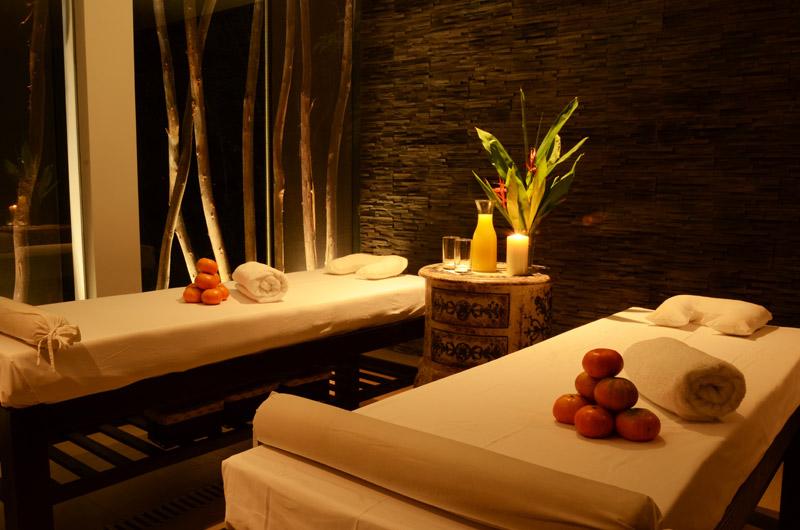A treatment room at El MaPi's new organic spa.