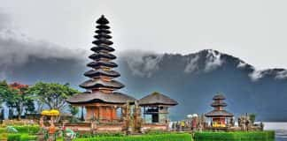 A temple in Bali.