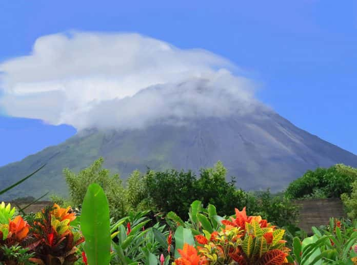 The Arenal Volcano in Costa Rica.