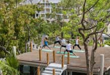 A yoga session at BodyHoliday in St. Lucia. (Photo courtesy of the BodyHoliday.)