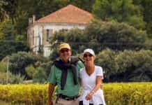 Burgundy-Walking-Couple