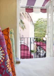 One Bedroom Deluxe Suite at El Paseo Hotel with views of Espanola Way.