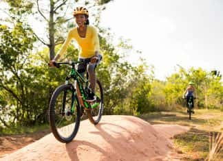 The Hidden Lake bike trail at Grande Lakes Orlando offers guests 13 and older a 2-mile mountain bike route.