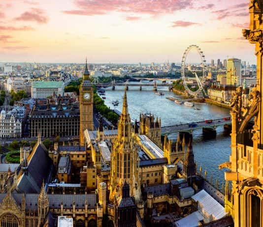 The view from Victoria Tower in London England. (Photo credit: VisitEngland/Andrew Pickett)