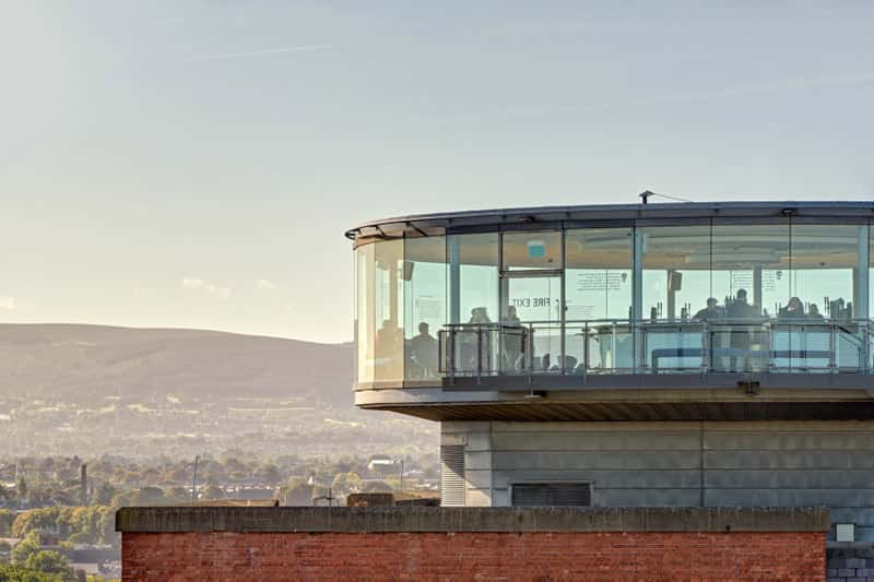 Guinness Storehouse's 7th Floor's famous Gravity Bar offers panoramic 360-degree views of Dublin.