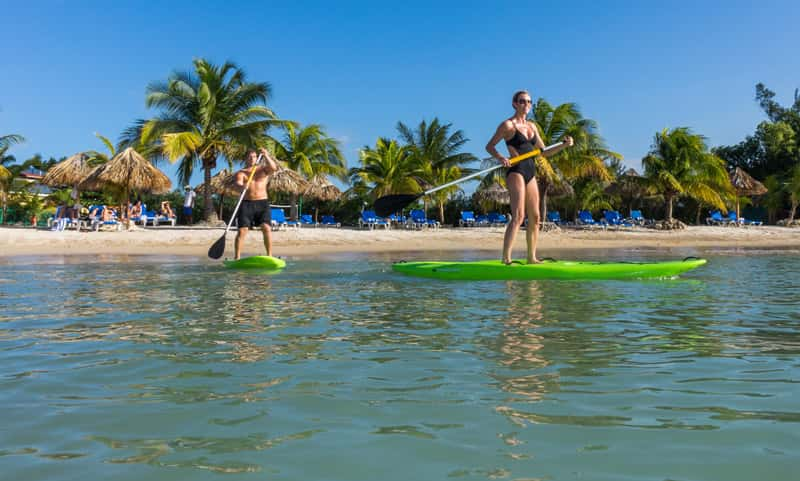 Paddleboarding at Jewel Paradise Cove Beach Resort & Spa.