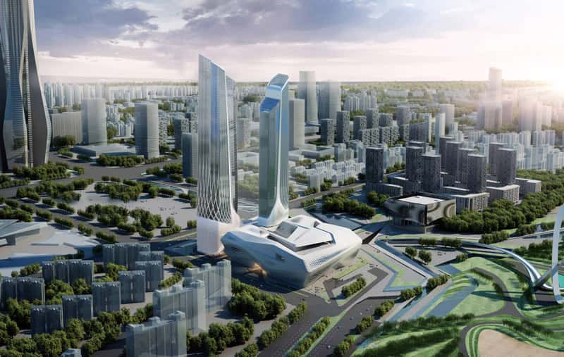 A rendering of the Jumeriah Nanjing in China.