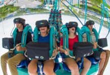 SeaWorld Orlando's new virtual reality roller coaster, Kraken Unleashed, is now open.