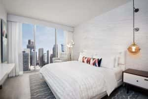 A rendering of a guestroom at Le Meridien Denver Downtown.