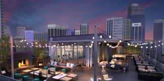 Le Meridien Denver Downtown's open-air rooftop bar is said to be the highest in the city.