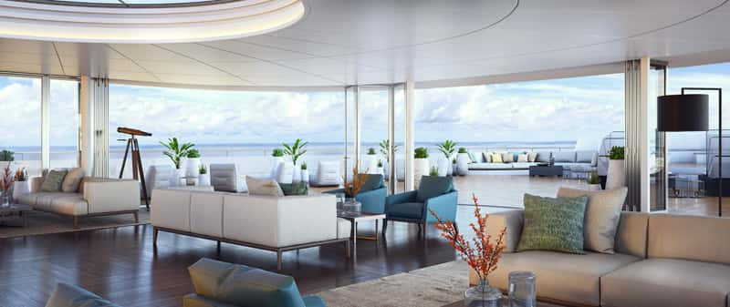 A rendering of the observation lounge.