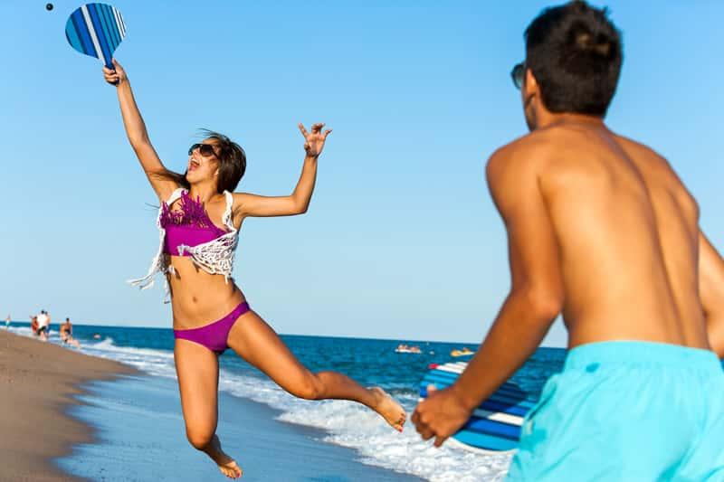 Beachside games at thePalm Beach Marriott Singer Island Beach Resort & Spa.