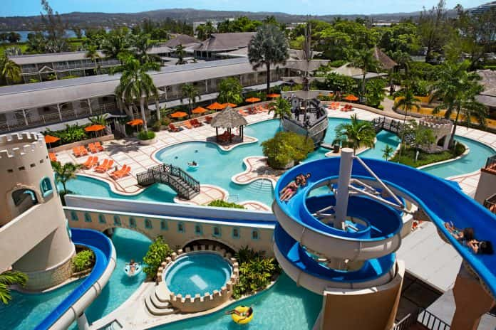 The water park at Sunscape Splash Montego Bay.