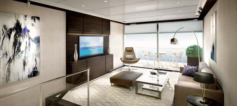 The Ritz-Carlton Yacht Collection Duplex Suite.