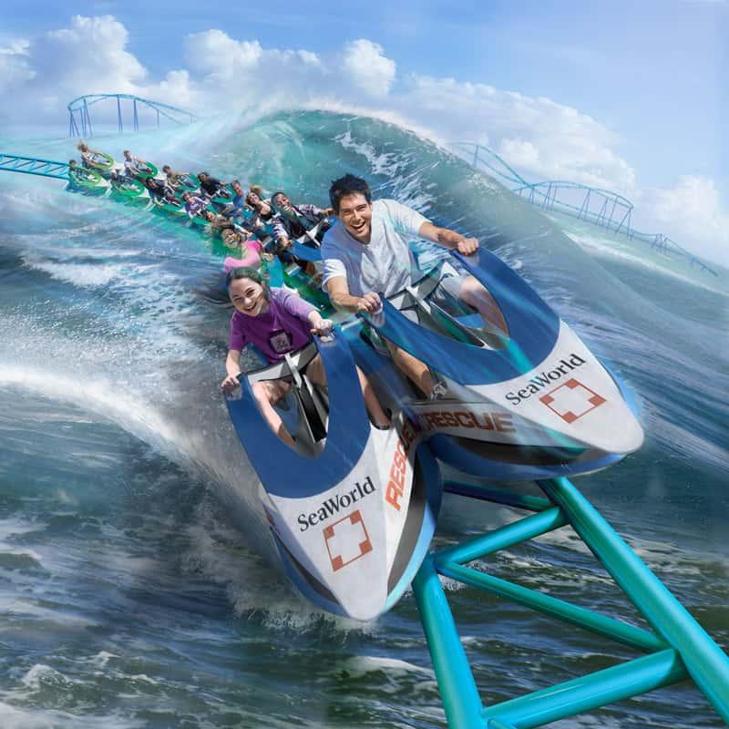 Seaworld San Antonio's features the newWave Breaker coaster.