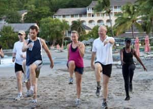 Beachside workout at the BodyHoliday. (Photo courtesy of the BodyHoliday.)