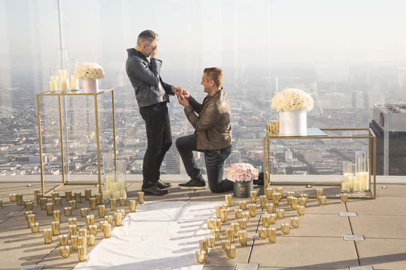 Proposals with a view packages are available at OUE Skyspace LA. (Photo credit Szuszanik Hovakimyan.)